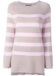 Steffen Schraut Striped Jumper Nude Neutrals