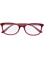 Cartier Rectangle Frame Glasses Red
