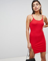 Ivyrevel Mini Dress With Slit In Rib Jersey Hot Red