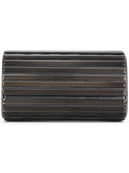 Elie Saab Metallic Clutch Bag Black