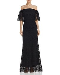 Laundry By Shelli Segal Off The Shoulder Lace Gown Black