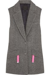 Alexander Wang Oversized Wool Blend Vest Gray