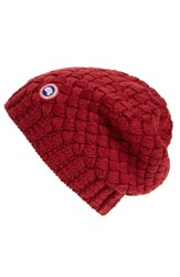 Canada Goose Women's Slouchy Basketweave Beanie Purple Niagara Grape
