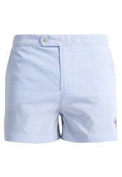 Robinson Les Bains Ucla Swimming Shorts Seersucker Blue Stretch Light Blue