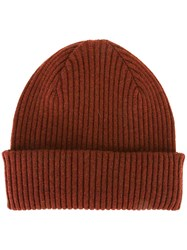 Paul Smith Ribbed Beanie Red