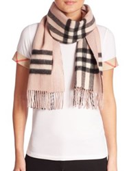 Burberry Reversible Metallic Check Cashmere Scarf Camel Black Ash Rose