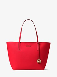 Michael Michael Kors Hayley Large Coated Canvas Tote Red