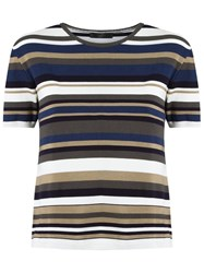 Talie Nk Striped Knit Top Off White