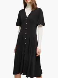 French Connection Serafina Button Through Dress Black