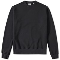 Aspesi Garment Dyed Crew Sweat Black
