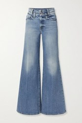 Frame Le Palazzo High Rise Wide Leg Jeans Mid Denim