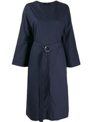 Joseph Etta Poplin Midi Dress Blue