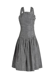 Vivienne Westwood Hali Checked Taffeta Dress Black White