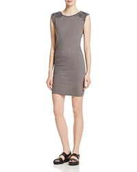 Pam And Gela Knotted Dress Grey