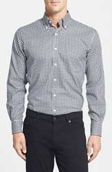 Peter Millar Men's 'Nanoluxe' Regular Fit Wrinkle Resistant Twill Check Sport Shirt Black