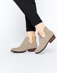 Truffle Collection Boni Cut Out Ankle Boots Mushroom Mf Beige