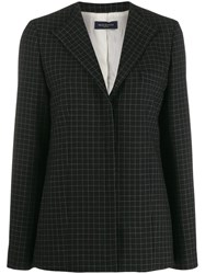 Piazza Sempione Check Tailored Blazer Black