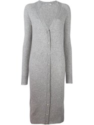 Alexander Wang T By Oversized Cardigan Grey