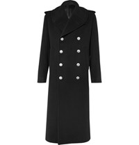 Alexander Mcqueen Double Breasted Wool And Cashmere Blend Coat Black