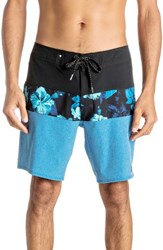 Quiksilver Men's Big And Tall Panel Block Eve Board Shorts Imperial Blue