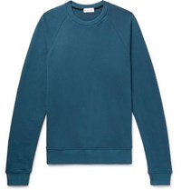 John Elliott Loopback Cotton Jersey Sweatshirt Blue