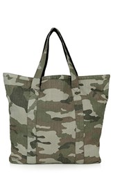 Topshop Camo Canvas Shopper