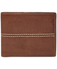 Fossil Turk Rfid Blocking Bifold With Flip Id Leather Wallet