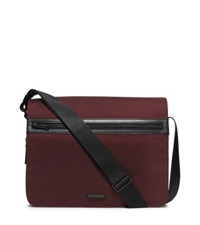 Michael Kors Parker Large Nylon Messenger Oxblood