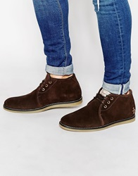 Original Penguin Suede Desert Boots Brown