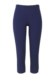 People Tree Adele Cropped Trousers Navy