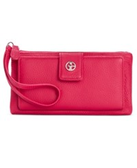 Giani Bernini Softy Grab And Go Leather Wallet And Wristlet Only At Macy's Raspberry
