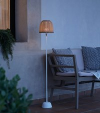 Bover Atticus Battery Operated Outdoor Floor Lamp Ivory White