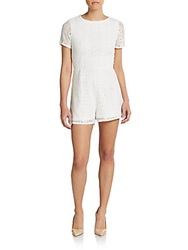 Romeo And Juliet Couture Lace Short Jumpsuit White