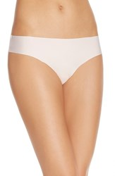 Women's Halogen 'No Show' Thong Pink Veil Rose