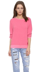 Wildfox Couture Baggy Beach Sweatshirt Acid Pink