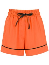 Andrea Bogosian High Waisted Shorts Yellow And Orange