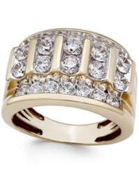 Macy's Men's Diamond Elevated Cluster Ring 3 Ct. T.W. In 10K Gold Yellow Gold