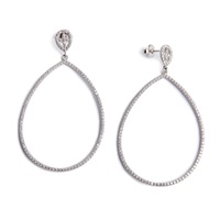 Avinas Jewelry Victorian Earrings Ruthenium Silver