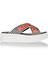 Kenzo Rubber Platform Sandals Orange