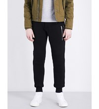 The Kooples Zip Detail Relaxed Fit Cotton Jogging Bottoms Bla01