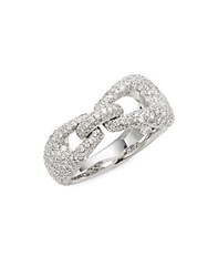 Kwiat Madison Avenue Diamond And 18K White Gold Ring Silver
