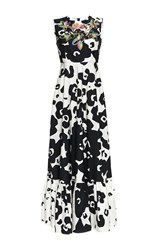 Antonio Marras Sleeveless Full Length Dress White Black Pink