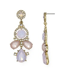 Aqua Braeden Chandelier Earrings Pink Combo