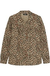 A.P.C. Atelier De Production Et De Creation Leopard Print Cotton Poplin Shirt Leopard Print