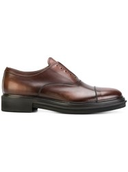 Premiata Classic Derby Shoes Calf Leather Leather Rubber Brown
