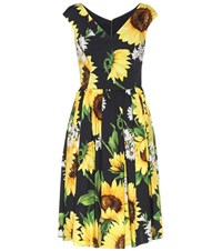 Dolce And Gabbana Printed Cotton Dress Yellow