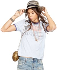 Denim And Supply Ralph Lauren Boho Riviera Jersey Ringer Tee Blue Gr