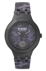 Versus By Versace Laguna City Leather Strap Watch 40Mm Black