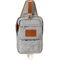 Givenchy Leather Strap Nylon Sling Bag Grey