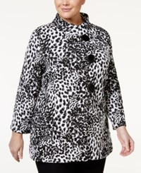 Jm Collection Plus Size Animal Print Jacket Only At Macy's White Combo